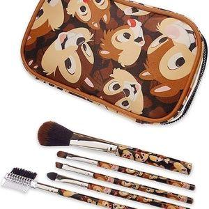 RARE DISNEY Chip & Dale Makeup Brush Set NEW